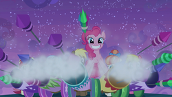 Size: 1920x1080 | Tagged: cannon, cherry berry, fireworks, grin, linky, pinkie pie, rainbow stars, rockets, roseluck, safe, screencap, shoeshine, smiling, smoke, spoiler:s09e17, the summer sun setback