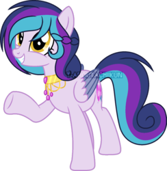 Size: 800x819 | Tagged: artist:t-aroutachiikun, female, mare, oc, oc:estelle, offspring, parent:princess cadance, parent:shining armor, parents:shiningcadance, pegasus, pony, safe, simple background, solo, transparent background