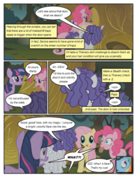 Size: 612x792 | Tagged: safe, artist:newbiespud, edit, edited screencap, screencap, fluttershy, pinkie pie, rainbow dash, rarity, twilight sparkle, earth pony, pegasus, pony, unicorn, comic:friendship is dragons, bridle gossip, comic, dialogue, exclamation point, female, implied zecora, interrobang, mare, messy mane, poison joke, question mark, screencap comic, tongue out, unicorn twilight, wide eyes, zecora's hut