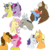 Size: 1000x1000 | Tagged: safe, artist:xsugarxwolfiex, applejack, cheese sandwich, comet tail, discord, dumbbell, fluttershy, pinkie pie, rainbow dash, rarity, twilight sparkle, alicorn, draconequus, earth pony, pegasus, pony, unicorn, cheesepie, cometlight, cute, diacheeses, discoshy, discute, dumbdash, female, glasses, lesbian, male, mane six, mare, rarijack, shipping, shyabetes, simple background, stallion, straight, sweet dreams fuel, transparent background, twilight sparkle (alicorn)