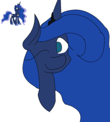 Size: 894x1000 | Tagged: alicorn, artist:treble clefé, cute, hidden wings, one eye closed, pony, princess luna, safe, solo, wink