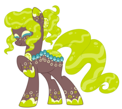 Size: 1963x1752 | Tagged: artist:crystal-tranquility, female, mare, oc, oc:tooty fruity, original species, pond pony, pony, safe, simple background, solo, transparent background
