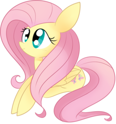Size: 1829x1964 | Tagged: safe, artist:luckyclau, fluttershy, pegasus, pony, cute, female, mare, prone, shyabetes, simple background, smiling, solo, transparent background