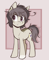 Size: 981x1209 | Tagged: artist:higgly-chan, earth pony, freckles, oc, oc only, pony, safe, solo