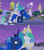 Size: 1364x1540 | Tagged: safe, edit, edited screencap, screencap, princess celestia, princess luna, pony, the summer sun setback, spoiler:s09e17, canterlot, comic, fireworks, liquid pride, moon, night, screencap comic, tears of joy, tower, tree