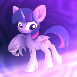 Size: 3500x3500   Tagged: safe, artist:brsajo, twilight sparkle, alicorn, pony, abstract background, female, mare, solo, twilight sparkle (alicorn)