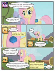 Size: 612x792 | Tagged: applejack, artist:newbiespud, basket, comic, comic:friendship is dragons, cute, dialogue, earth pony, edit, edited screencap, eyes closed, female, flower, fluttershy, mare, parasprite, pegasus, pony, safe, screencap, screencap comic, smiling, swarm of the century, twilight sparkle, unicorn, unicorn twilight