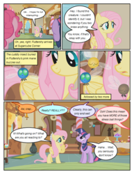 Size: 612x792 | Tagged: artist:newbiespud, comic, comic:friendship is dragons, dialogue, edit, edited screencap, female, fluttershy, implied rainbow dash, implied rarity, mare, offscreen character, parasprite, pinkie pie, pony, safe, screencap, screencap comic, sitting, sugarcube corner, swarm of the century, twilight sparkle, unicorn, unicorn twilight