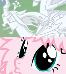 Size: 815x918   Tagged: safe, artist:mixermike622, edit, edited screencap, screencap, cozy glow, lord tirek, queen chrysalis, oc, oc:fluffle puff, changeling, changeling queen, pegasus, pony, the ending of the end, angry, close-up, crying, defeat, doe eyes, eye shimmer, face, female, filly, frown, implied chrysipuff, legion of doom statue, lip quiver, male, mare, petrification, pouting, sad, statue