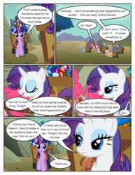 Size: 612x792 | Tagged: applejack, artist:newbiespud, comic, comic:friendship is dragons, dialogue, dragon, earth pony, edit, edited screencap, eyes closed, female, fluttershy, gem, harness, lidded eyes, male, mane seven, mane six, mare, pegasus, pinkie pie, pony, rainbow dash, rarity, safe, screencap, screencap comic, spike, tack, twilight sparkle, unicorn, unicorn twilight, wagon