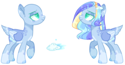 Size: 3099x1611 | Tagged: safe, artist:manella-art, oc, oc:west rain, pegasus, pony, bald, female, mare, offspring, parent:fleetfoot, parent:soarin', parents:soarinfoot, simple background, solo, transparent background