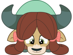 Size: 2450x1862 | Tagged: artist:sonofaskywalker, cute, female, safe, she's all yak, simple background, smiling, solo, spoiler:s09e07, transparent background, vector, yak, yona, yonadorable