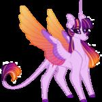 Size: 1500x1500 | Tagged: safe, artist:australian-senior, twilight sparkle, alicorn, pony, kirindos, alternate design, alternate universe, female, leonine tail, mare, simple background, solo, transparent background, twilight sparkle (alicorn)