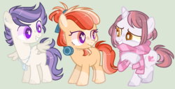 Size: 1058x540 | Tagged: artist:nocturnal-moonlight, base used, colt, earth pony, female, filly, male, oc, oc only, oc:strawberry pop, oc:sweetheart, oc:thunder shock, offspring, parent:apple bloom, parent:button mash, parent:rumble, parent:scootaloo, parents:rumbloo, parents:sweetiemash, parents:tenderbloom, parent:sweetie belle, parent:tender taps, pegasus, pony, safe, simple background, unicorn