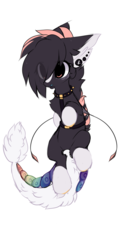 Size: 996x1904   Tagged: safe, artist:php146, oc, oc only, oc:kaiyo, original species, pony, suisei pony, closed species, ear fluff, eye clipping through hair, female, simple background, solo, white background