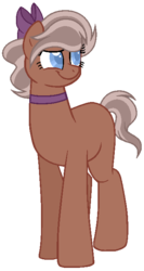 Size: 358x675 | Tagged: artist:otakuchicky1, base used, bow, earth pony, female, hair bow, mare, oc, offspring, parent:burnt oak, parent:swoon song, pony, safe, simple background, solo, transparent background
