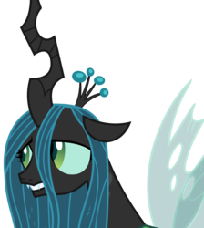 Size: 3028x3375 | Tagged: artist:sketchmcreations, changeling, changeling queen, female, leaning forward, lidded eyes, quadrupedal, queen chrysalis, sad, safe, simple background, solo, spoiler:s09e17, the summer sun setback, transparent background, vector