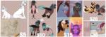 Size: 3332x1173 | Tagged: safe, artist:rosebudthevampiremar, earth pony, pony, unicorn, commission