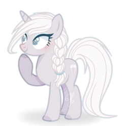 Size: 1208x1192 | Tagged: safe, artist:6-fingers-lover, oc, oc:white diamond, pony, unicorn, female, magical lesbian spawn, mare, offspring, parent:derpy hooves, parent:rarity, parents:derpity, simple background, solo, transparent background