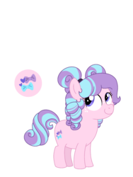Size: 1536x2048 | Tagged: artist:sandwichbuns, cutie mark, earth pony, female, filly, magical lesbian spawn, oc, oc:baby pink, oc only, offspring, parent:diamond tiara, parent:silver spoon, parents:silvertiara, pony, safe, simple background, solo, transparent background