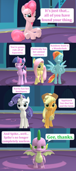 Size: 1920x4320 | Tagged: safe, artist:red4567, applejack, fluttershy, pinkie pie, rainbow dash, rarity, spike, twilight sparkle, alicorn, dragon, the last laugh, spoiler:s09e14, 3d, burn, comic, mane seven, mane six, source filmmaker, twilight sparkle (alicorn), winged spike