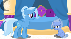 Size: 2625x1445 | Tagged: artist:princessmoonstaryt, oc, offspring, parent:hoo'far, parents:trixfar, parent:trixie, safe, trixie
