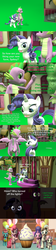 Size: 1920x8640 | Tagged: 3d, artist:papadragon69, carrot cake, choose your own adventure, comic, comic:spike's cyosa, cookie crumbles, cupcake, cup cake, dragon, female, food, gem, hondo flanks, male, older, older spike, pinkie pie, rarity, safe, shipping, source filmmaker, sparity, spike, straight, sugarcube corner, surprise, sweetie belle, teenager, teenage spike, winged spike