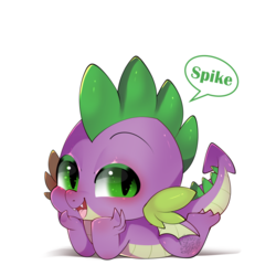 Size: 800x800 | Tagged: safe, artist:snow angel, spike, dragon, claws, cute, looking at you, male, solo, spikabetes, winged spike