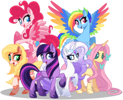Size: 9264x7540 | Tagged: safe, artist:rosesweety, color edit, edit, applejack, fluttershy, pinkie pie, rainbow dash, rarity, twilight sparkle, earth pony, pegasus, pony, unicorn, applejack (g5), colored, discussion in the comments, earth pony twilight, fluttershy (g5), g5, g5 concept leak style, graveyard of comments, mane six, mane six (g5), new design, next generation, off topic in the comments, pegasus pinkie pie, pinkie pie (g5), png, race swap, rainbow dash (g5), rarity (g5), twilight sparkle (g5), unicorn fluttershy, update