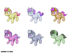 Size: 640x480 | Tagged: apple bloom, artist:darkdoomer, derpibooru exclusive, diamond tiara, female, filly, isometric, oc, oc:filly anon, pixel art, safe, scootaloo, silver spoon, sweetie belle