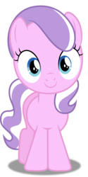 Size: 3144x6301 | Tagged: absurd res, accessory-less edit, artist:dashiesparkle, cute, diamondbetes, diamond tiara, earth pony, edit, editor:slayerbvc, female, filly, missing accessory, pony, safe, simple background, smiling, solo, transparent background, twilight time, vector, vector edit, when she smiles