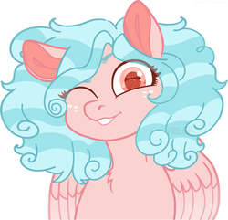 Size: 3062x2948 | Tagged: safe, artist:adlerbareni, artist:jeffapegas, cozy glow, pony, base used, female, looking at you, one eye closed, solo, wink