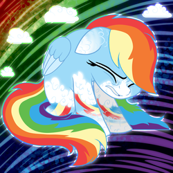 Size: 2000x2000 | Tagged: safe, artist:tiberioustat2s, rainbow dash, pony, alternate design, base used, female, floppy ears, high res, solo