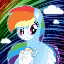 Size: 2000x2000 | Tagged: safe, artist:tiberioustat2s, rainbow dash, pony, alternate design, base used, female, high res, solo