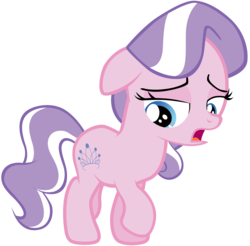Size: 7000x6875 | Tagged: safe, artist:tardifice, edit, editor:slayerbvc, vector edit, diamond tiara, earth pony, pony, crusaders of the lost mark, accessory-less edit, female, filly, looking down, missing accessory, simple background, solo, the pony i want to be, transparent background, vector