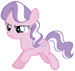 Size: 7000x6610 | Tagged: safe, artist:tardifice, edit, editor:slayerbvc, vector edit, diamond tiara, earth pony, pony, crusaders of the lost mark, accessory-less edit, female, filly, galloping, missing accessory, simple background, solo, transparent background, vector