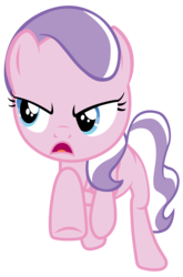 Size: 7000x10610 | Tagged: safe, artist:tardifice, edit, editor:slayerbvc, vector edit, diamond tiara, earth pony, pony, crusaders of the lost mark, accessory-less edit, female, filly, galloping, missing accessory, simple background, solo, transparent background, vector