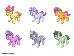 Size: 640x480 | Tagged: accessories, apple bloom, artist:darkdoomer, cute, diamond tiara, female, filly, isometric, oc, oc:filly anon, pixel art, safe, scootaloo, silver spoon, sweetie belle