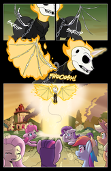 Size: 2500x3843 | Tagged: applejack, artist:muffinshire, crossover, female, fluttershy, ghost rider, mane six, marvel comics, pinkie pie, ponified, pony, rainbow dash, rarity, safe, spike, twilight sparkle