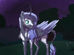 Size: 4000x3000 | Tagged: alicorn, artist:venommocity, body painting, male, night, oc, oc:panther, offspring, parent:king sombra, parent:princess luna, parents:lumbra, pony, safe, solo, stallion