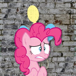 Size: 4096x4096 | Tagged: absurd res, artist:flutterspon, cutie mark, pinkie pie, pony, safe, solo, wall
