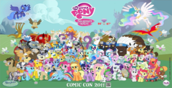 Size: 937x484 | Tagged: 2011, alicorn, aloe, angel bunny, apple bloom, applejack, artist needed, berry punch, berryshine, big macintosh, bon bon, braeburn, buffalo, canterlot, carrot cake, carrot top, cheerilee, colt, comic con, cup cake, cutie mark crusaders, daisy, derpy hooves, descent, diamond dog, diamond tiara, dj pon-3, doctor whooves, donut joe, dragon, earth pony, everypony, female, filly, flower wishes, fluttershy, gilda, golden harvest, granny smith, gummy, hasbro, hoity toity, hot air balloon, hub logo, hydra, lickety split, lily, lily valley, little strongheart, lotus blossom, lyra heartstrings, madame leflour, male, mane seven, mane six, mare, mayor mare, minuette, multiple heads, my little pony logo, nightshade, octavia melody, opalescence, owlowiscious, parasprite, pegasus, phoenix, photo finish, pinkie pie, pokey pierce, pony, ponyville, prince blueblood, princess celestia, princess luna, qr code, rainbow dash, rarity, roseluck, royal guard, safe, sapphire shores, scootaloo, scooter, shadowbolts, sheriff silverstar, silver spoon, snails, snips, soarin', spike, spitfire, stallion, steven magnet, sweetie belle, sweetie drops, tank, time turner, trixie, twilight sparkle, twist, unicorn, unicorn twilight, vinyl scratch, wall of tags, winona, wonderbolts, zecora