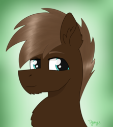 Size: 1029x1158 | Tagged: safe, artist:dyonys, oc, oc:black wing, pony, abstract background, bust, fluffy