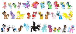 Size: 3796x1696 | Tagged: alicorn, alicornified, artist:princess-josie-riki, artist:selenaede, ayano aishi, barely pony related, base used, blind specter, bliss (powerpuff girls 2016), blossom (powerpuff girls), bonnie, bubbles (powerpuff girls), bunny (powerpuff girls), buttercup (powerpuff girls), cartoon network, chara, chica, chikoriki, circus baby, clothes, crossover, cuphead, cuphead (character), devil, devil horns, earth pony, five nights at freddy's, five nights at freddy's 4, foxy, freddy fazbear, frisk, griffon, griffonized, hyper blossom, lego, mangle, mixels, mugman, mysto, nightmare fredbear, pegasus, pogoriki, ponified, pony, powered buttercup, powerpuff girls 2016, race swap, rolling bubbles, safe, smeshariki, species swap, studio mdhr, the devil, the lego movie, the powerpuff girls, the powerpuff girls z, toy bonnie, toy chica, toy freddy, undertale, unicorn, unikitty, werner werman, yandere simulator