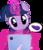 Size: 2500x2900 | Tagged: safe, artist:pizzamovies, twilight sparkle, pony, unicorn, adorkable, adorkable twilight, confused, cute, dork, eggplant, female, food, iphone, levitation, magic, mare, oblivious, oblivious twilight is oblivious, question mark, simple background, solo, telekinesis, transparent background