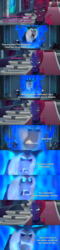 Size: 1585x6623 | Tagged: antagonist, armor, broken horn, canterlot castle, caption, cauldron, comic, crown, disney, disney channel, drakken, edit, edited screencap, fangs, female, horn, horns, image macro, jewelry, kim possible, mare, my little pony: the movie, pony, reference, regalia, safe, scar, screencap, screencap comic, shego, storm guard, storm king, tempest shadow, text, unicorn, yeti