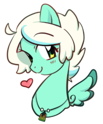 Size: 310x374 | Tagged: artist:yukandasama, bust, china, china ponycon, heart, oc, oc:breeze swirl, pegasus, pony, prance and party, safe, simple background, solo