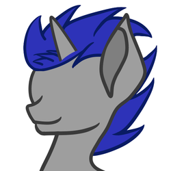 Size: 500x500 | Tagged: artist:ruchiyoto, edit, male, oc, oc:enigan, pony, safe, simple background, smiling, solo, stallion, unicorn, vector, vector edit, wip