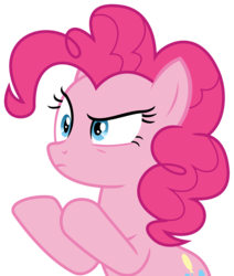 Size: 2148x2529 | Tagged: artist:sketchmcreations, earth pony, female, frown, mare, pinkie pie, pinkie pie is not amused, pony, raised hoof, safe, simple background, spoiler:s09e14, the last laugh, transparent background, unamused, vector