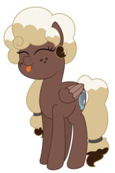 Size: 3125x4688   Tagged: safe, artist:besttubahorse, oc, oc:sweet mocha, pony, :p, cute, eyes closed, freckles, simple background, tongue out, transparent background, vector